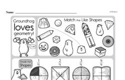 Fourth Grade Geometry Worksheets - 3D Shapes Worksheet #5