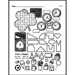 Fourth Grade Geometry Worksheets - 3D Shapes Worksheet #3