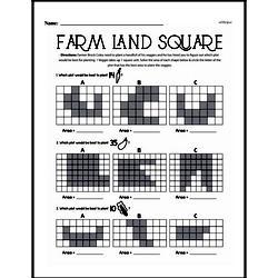 Fourth Grade Geometry Worksheets - Area Worksheet #2