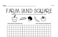 Fourth Grade Geometry Worksheets - Area Worksheet #3