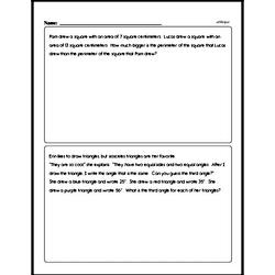 Geometry - Geometry Word Problems Workbook (all teacher worksheets - large PDF)