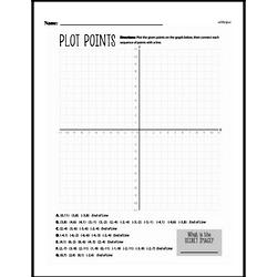 Fourth Grade Geometry Worksheets - Graphing Points on a Coordinate Plane Worksheet #10