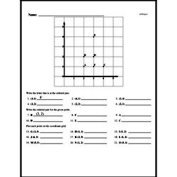 Fourth Grade Geometry Worksheets - Graphing Points on a Coordinate Plane Worksheet #1