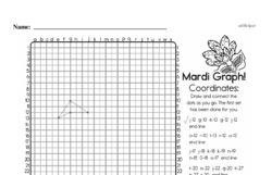 Fourth Grade Geometry Worksheets - Graphing Points on a Coordinate Plane Worksheet #9