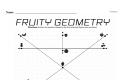 Fourth Grade Geometry Worksheets - Lines and Angles Worksheet #8