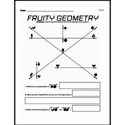 Fourth Grade Geometry Worksheets - Lines and Angles Worksheet #9