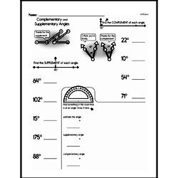 Fourth Grade Geometry Worksheets - Lines and Angles Worksheet #11