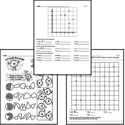 Geometry - Lines and Angles Mixed Math PDF Workbook for Fourth Graders