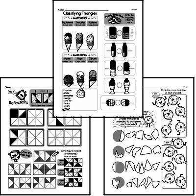Geometry - Lines and Angles Workbook (all teacher worksheets - large PDF)