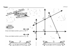 Fourth Grade Geometry Worksheets - Lines and Angles Worksheet #14