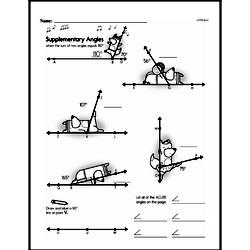Fourth Grade Geometry Worksheets - Lines and Angles Worksheet #16