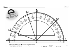 Fourth Grade Geometry Worksheets - Lines and Angles Worksheet #17