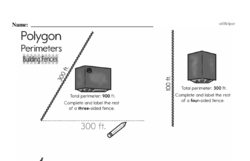 Fourth Grade Geometry Worksheets - Perimeter Worksheet #3