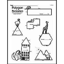 Fourth Grade Geometry Worksheets - Perimeter Worksheet #4