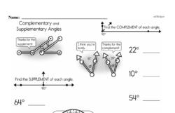 Fourth Grade Geometry Worksheets Worksheet #14