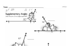 Fourth Grade Geometry Worksheets Worksheet #19