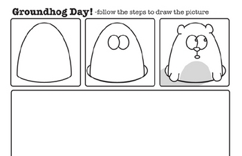 Draw the Picture Fun Worksheet Pages for Groundhog Day