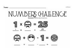Fourth Grade Math Challenges Worksheets - Puzzles and Brain Teasers Worksheet #165