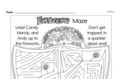 Fourth Grade Math Challenges Worksheets - Puzzles and Brain Teasers Worksheet #140
