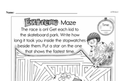 Fourth Grade Math Challenges Worksheets - Puzzles and Brain Teasers Worksheet #152