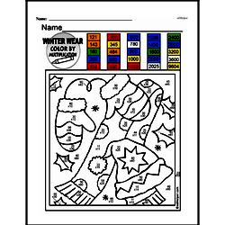 Fourth Grade Math Challenges Worksheets - Puzzles and Brain Teasers Worksheet #83