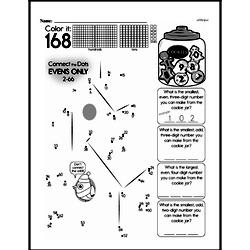 Fourth Grade Math Challenges Worksheets - Puzzles and Brain Teasers Worksheet #60
