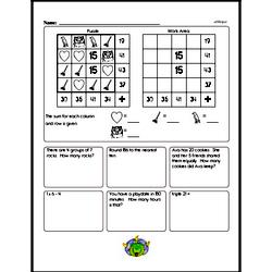 Fourth Grade Math Challenges Worksheets - Puzzles and Brain Teasers Worksheet #3