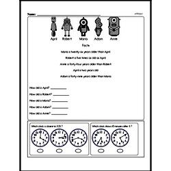 Fourth Grade Math Challenges Worksheets - Puzzles and Brain Teasers Worksheet #5