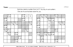 Fourth Grade Math Challenges Worksheets - Puzzles and Brain Teasers Worksheet #6