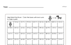 Fourth Grade Math Challenges Worksheets - Puzzles and Brain Teasers Worksheet #7