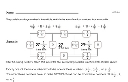 Fourth Grade Math Challenges Worksheets - Puzzles and Brain Teasers Worksheet #11