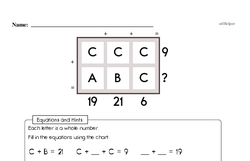 Fourth Grade Math Challenges Worksheets - Puzzles and Brain Teasers Worksheet #15