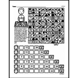 Fourth Grade Math Challenges Worksheets - Puzzles and Brain Teasers Worksheet #71
