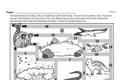 Fourth Grade Math Challenges Worksheets - Puzzles and Brain Teasers Worksheet #97