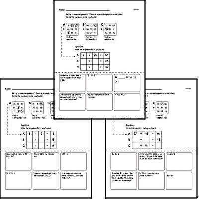 Math Facts Challenge Puzzle