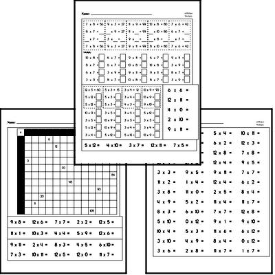 Multiplication to 12s Practice Workbook