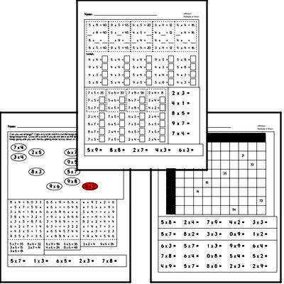 Multiplication to 9s Practice Workbook