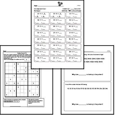 Math Morning Work Workbook