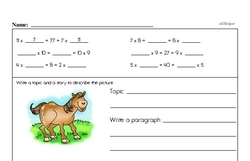 Fourth Grade Math Word Problems Worksheets - Fraction Word Problems Worksheet #2