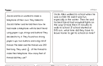 Math Word Problems - Mixed Operations Math Word Problems Workbook (all teacher worksheets - large PDF)