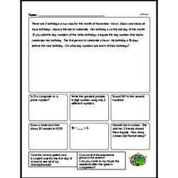 Fourth Grade Math Word Problems Worksheets - Mixed Operations Math Word Problems Worksheet #2