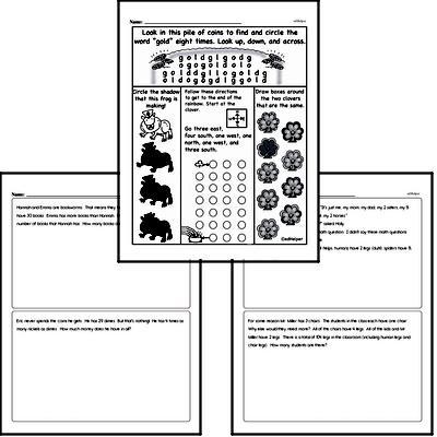 Math Word Problems - Multi-Step Math Word Problems Workbook (all teacher worksheets - large PDF)