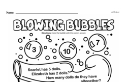 Fourth Grade Math Word Problems Worksheets - Single Step Math Word Problems Worksheet #9