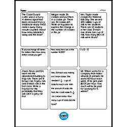 Fourth Grade Math Word Problems Worksheets - Single Step Math Word Problems Worksheet #3