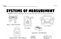 Fourth Grade Measurement Worksheets - Systems of Measurement Worksheet #3