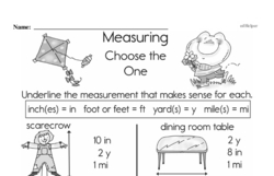 Fourth Grade Measurement Worksheets - Systems of Measurement Worksheet #2