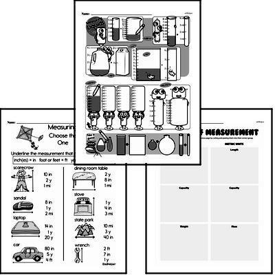 Measurement - Systems of Measurement Workbook (all teacher worksheets - large PDF)