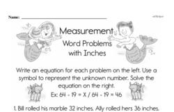 Fourth Grade Measurement Worksheets Worksheet #6