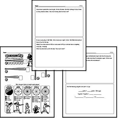 free fourth grade measurement pdf worksheets. Black Bedroom Furniture Sets. Home Design Ideas