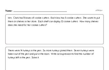 Multiplication - Multi-Digit Multiplication Mixed Math PDF Workbook for Fourth Graders